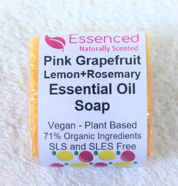 natural vegan soap - grapefruit lemon and rosemary