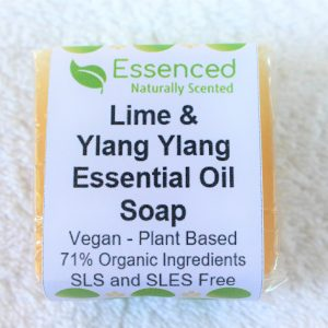natural vegan soap - lime and ylang ylang essential oil soap