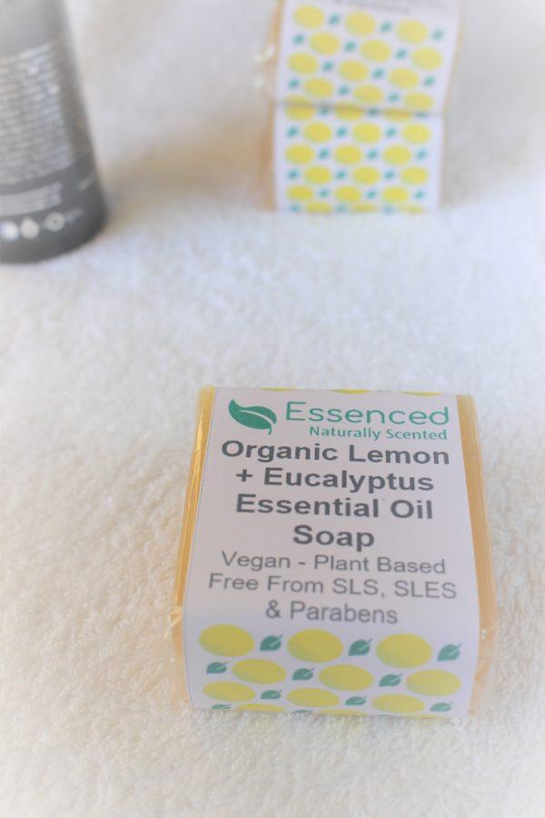 Organic Lemon and Eucalyptus Essential Oil Soap