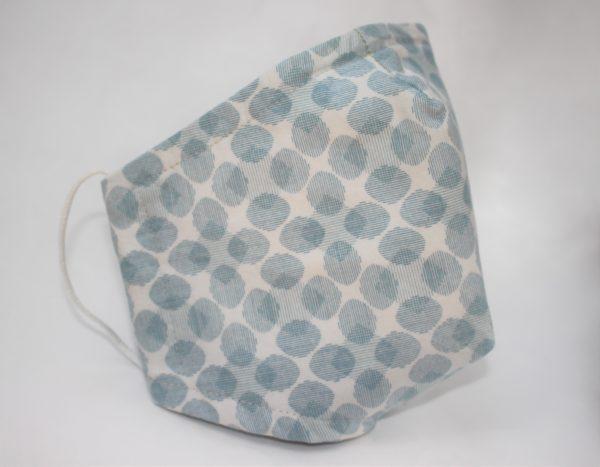 blue grey oval triple layer - side