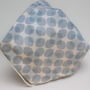 blue grey oval spot triple layer face mask small - side