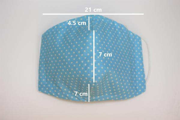 aqua blue dot small dimensions