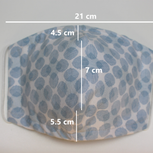 blue grey oval dot small dimensions
