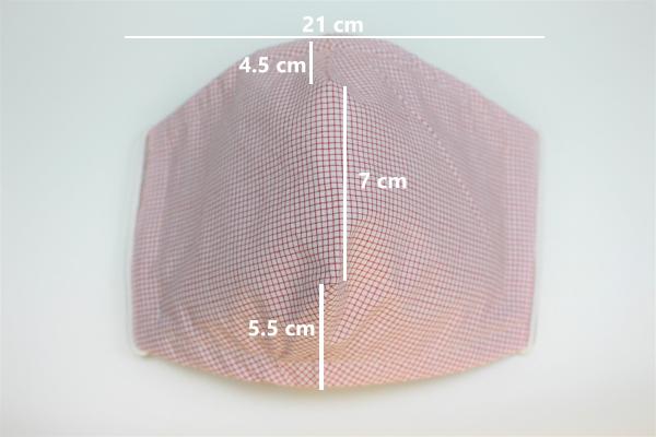 red cream mini check small dimensions
