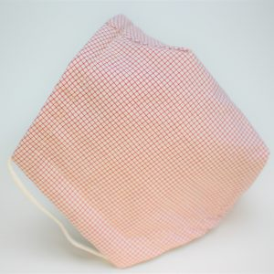 red cream mini check triple layer face mask small side