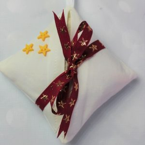 burgundy and gold star lavender bag