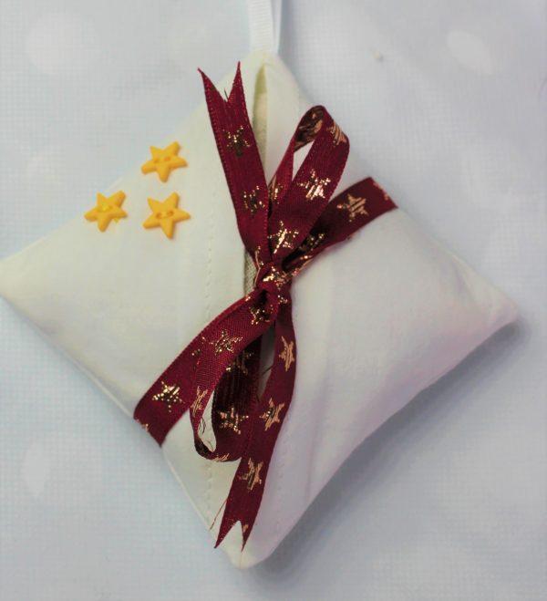 burgundy and gold star lavender bag