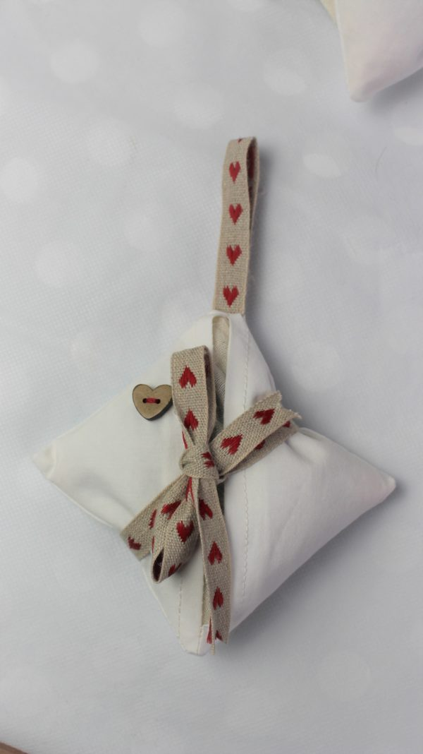 lavender bag love heart
