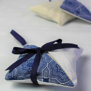 blue mosaic lavender bag side