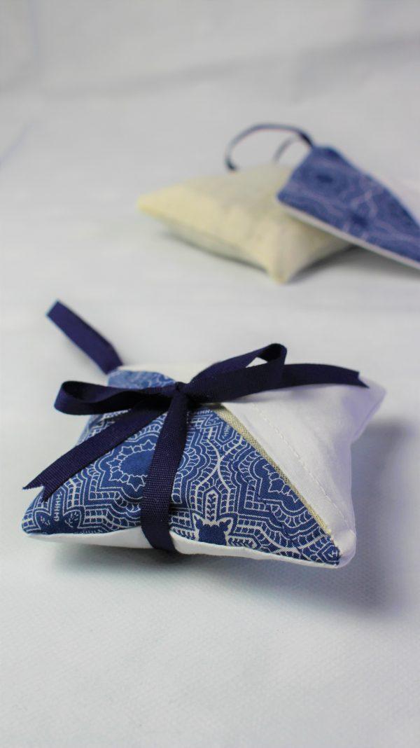 blue mosaic lavender bag side